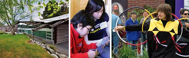 Collage photo demonstrating UBC Aboriginal engagement