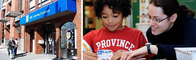 Collage photo demonstrating UBC community efforts